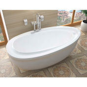 Atlantis Whirlpools Breeze Oval Soaking Bathtub, 38 x 71, Left or Right Drain, White