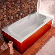 Atlantis Whirlpools Eros Rectangular Soaking Bathtub, 42 x 72, Left or Right Drain, White