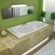 Atlantis Whirlpools Whisper Rectangular Whirlpool Bathtub, 42 x 72, Center Drain, White
