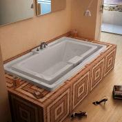 Atlantis Whirlpools Infinity Rectangular Air & Whirlpool Bathtub, 46 x 78, Center Drain, White