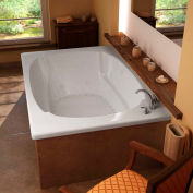 Atlantis Whirlpools Charleston Rectangular Air & Whirlpool Bathtub, 48 x 78, Center Drain, White