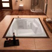 Atlantis Whirlpools Caresse Rectangular Whirlpool Bathtub, 54 x 72, Left Drain , White