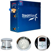 SteamSpa Indulgence IN450CH Steam Generator Package, 4.5KW, Polished Chrome