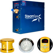SteamSpa Indulgence IN750GD Steam Generator Package, 7.5KW, Polished Brass