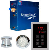 SteamSpa Indulgence INT750CH Touch Pad Steam Generator Package, 7.5KW, Polished Chrome