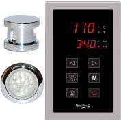 SteamSpa Indulgence INTPKCH Touch Pad Control Kit, Polished Chrome