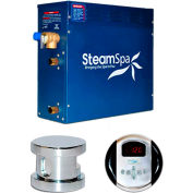 SteamSpa Oasis OA900CH Steam Generator Package, 9KW, Polished Chrome