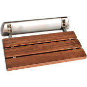 SteamSpa SS-K-NI Wall Mounted Shower Bench, Brushed Nickel