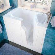 Spa World Venzi Rectangular Air Jetted Walk-In Bathtub, 26x46, Right Drain, White
