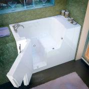 Spa World Venzi Rectangular Soaking Walk-In ADA Bathtub, 29x53, Left Drain, White