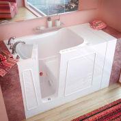 Spa World Venzi Rectangular Air & Whirlpool Walk-In Bathtub, 30x53, Left Drain, White