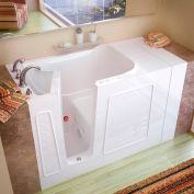 Spa World Venzi Rectangular Whirlpool Walk-In Bathtub, 30x53, Left Drain, White
