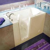 Spa World Venzi Rectangular Whirlpool Walk-In Bathtub, 30x54, Left Drain, Biscuit