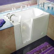 Spa World Venzi Rectangular Soaking Walk-In Bathtub, 30x54, Left Drain, White
