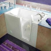 Spa World Venzi Rectangular Whirlpool Walk-In Bathtub, 30x54, Right Drain, White