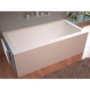 Spa World Venzi Madre Rectangular Soaking Bathtub Bathtub, 30x60, Right Drain, White