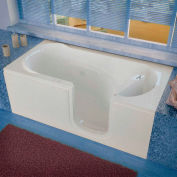 Spa World Venzi Rectangular Whirlpool Walk-In Bathtub, 30x60, Right Drain, White