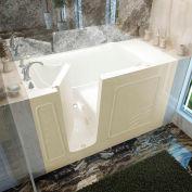 Spa World Venzi Rectangular Air & Whirlpool Walk-In Bathtub, 30x60, Left Drain, Biscuit