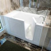 Spa World Venzi Rectangular Air & Whirlpool Walk-In Bathtub, 30x60, Right Drain, White