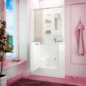 Spa World Venzi Rectangular Whirlpool Walk-In Bathtub, 31x40, Right Drain, White