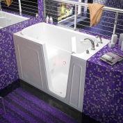 Spa World Venzi Rectangular Whirlpool Walk-In Bathtub, 32x60, Right Drain, White