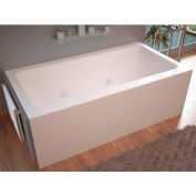 Spa World Venzi Madre Rectangular Whirlpool Bathtub, 32x60, Left Drain, White