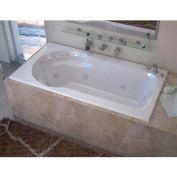 Spa World Venzi Grand Tour Elda Rectangular Air & Whirlpool Bathtub, 32x60, Right Drain, White