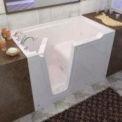 Spa World Venzi Rectangular Whirlpool Walk-In Bathtub, 36x60, Left Drain, White