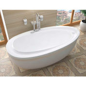 Spa World Venzi Tullia Oval Air Jetted Bathtub, 38x71, Reversible Drain, White