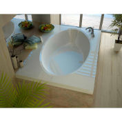 Spa World Venzi Viola Rectangular Soaking Bathtub Bathtub, 42x72, Center Drain, White