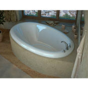 Spa World Venzi Vino Oval Soaking Bathtub Bathtub, 44x78, Center Drain, White