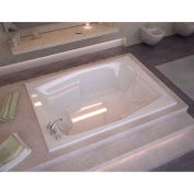 Spa World Venzi Capri Rectangular Soaking Bathtub Bathtub, 54x72, Reversible Drain, White
