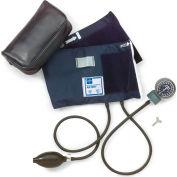 Medline MDS9413 Handheld Aneroid Sphygmomanometer, Large Adult Cuff, Blue