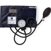 Medline MDS9380 Handheld Aneroid Sphygmomanometer, Adult Cuff, Blue