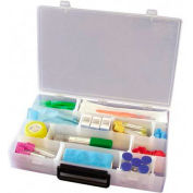 """Infinite Divider System Box with Handle, 13.5""""W x 9.5""""D x 2.2""""H, 16 Dividers"""