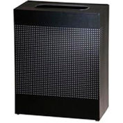 Rubbermaid® Silhouette SR18E Rectangular Open Top Receptacle, 40 Gallon - Black
