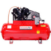 Schrader® Two-Stage Electric Air Compressor SA31080H3460, 460V, 10HP, 3PH, 80 Gal