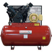 Schrader® Two-Stage Electric Air Compressor SA330120H346, 460V, 30HP, 3PH, 120 Gal