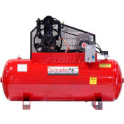 Schrader® Two-Stage Electric Air Compressor SA35120H1208, 208V, 5HP, 1PH, 120 Gal
