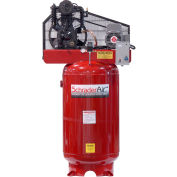 Schrader® Two-Stage Electric Air Compressor SA3580V1208, 208V, 5HP, 1PH, 80 Gal