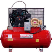 Schrader® Two-Stage Electric Air Compressor SA37580H1, 230V, 7.5HP, 1PH, 80 Gal