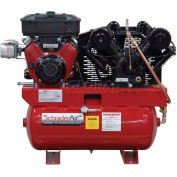 Schrader® Two-Stage Gas Powered Air Compressor SA61630B, Briggs & Stratton, 16HP, 30 Gal