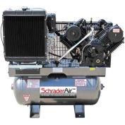 Schrader® Two-Stage Gas Powered Air Compressor SA81630K, Diesel, 16.8HP, 30 Gal