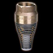 "1"" FNPT Brass Foot Valve with Buna-S Rubber Poppet"
