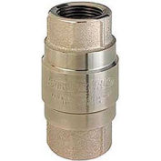 "1/2"" FNPT Nickel-Plated Brass Check Valve with Stainless Steel Poppet"