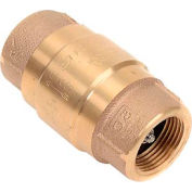 "1"" FNPT Brass Check Valve with Buna-N Rubber Poppet"