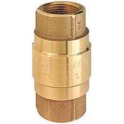 "3"" FNPT No-Lead Brass Check Valve with Buna-S Rubber Poppet"