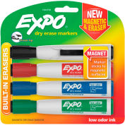 EXPO® Magnetic Dry Erase Marker - Chisel Tip - Assorted - 4 Pack