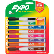 EXPO® Magnetic Dry Erase Marker - Fine Tip - Assorted - 8 Pack