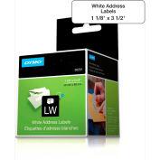 "DYMO® LW Address Labels, 1 1/8"" x 3 1/2"", Black on White"